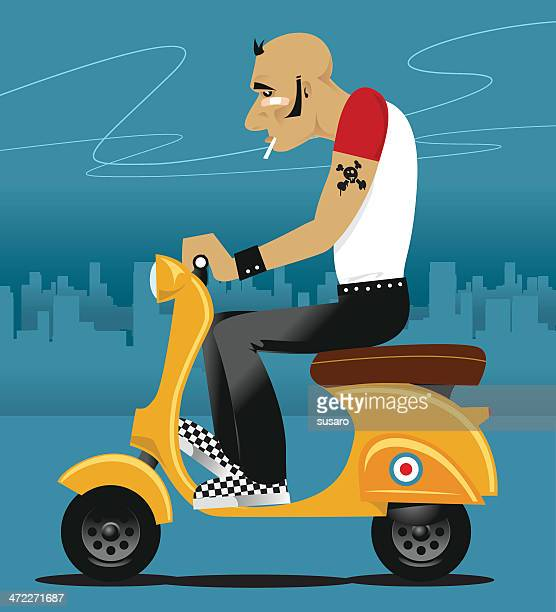 motor on - moped stock illustrations, clip art, cartoons, & icons