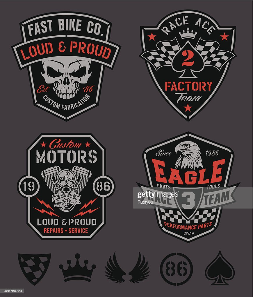 Motor patches emblem set
