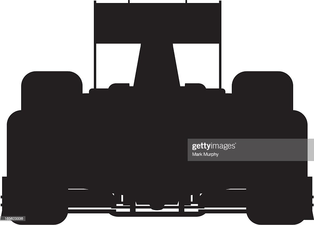 F1 Motor Racing Car Silhouette : stock illustration
