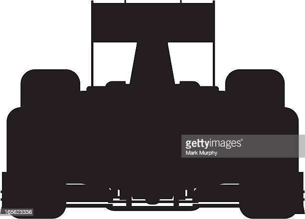 f1 motor racing car silhouette - formula one racing stock illustrations, clip art, cartoons, & icons