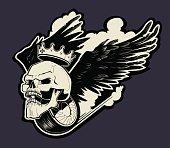 motor skull logo