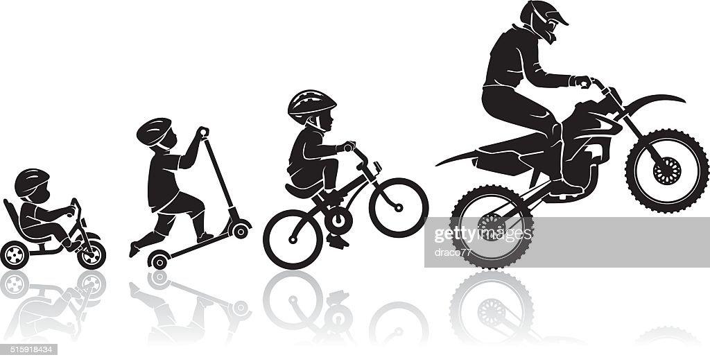 Motorbike Evolution Stages
