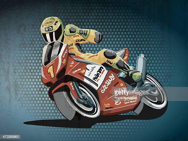 Motorbike Racing Grunge Color