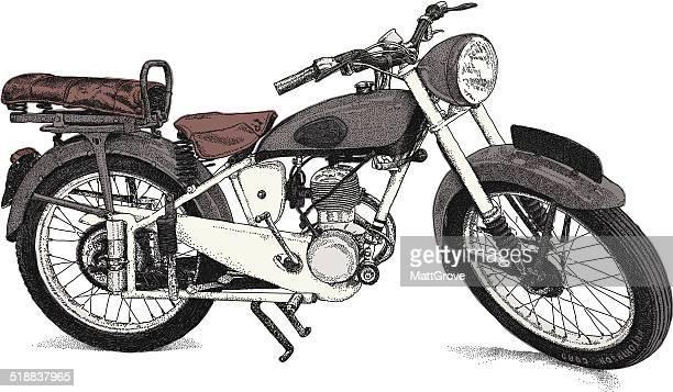 stockillustraties, clipart, cartoons en iconen met motorbike - moped
