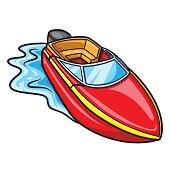 Motorboat Cartoon