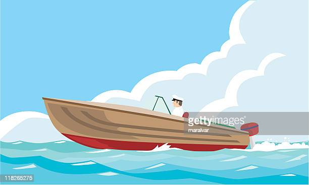 motor-boat - motorboating stock illustrations, clip art, cartoons, & icons