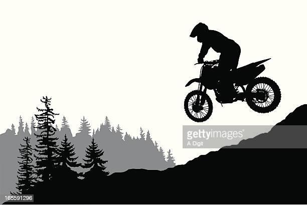 ilustraciones, imágenes clip art, dibujos animados e iconos de stock de motorcross - motocross