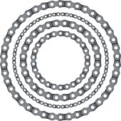 Motorcycle chain round frames