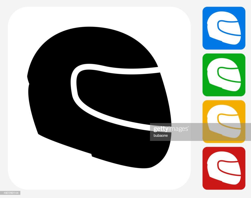 Motorcycle Helmet Icon Flat Graphic Design : stock illustration