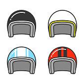Motorcycle helmet set