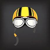 Motorcycle helmet vintage.