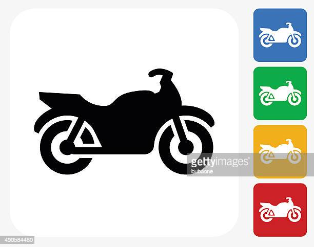 motorcycle icon flat graphic design - moped stock illustrations, clip art, cartoons, & icons