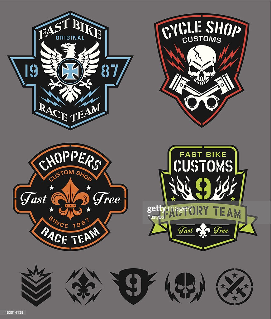 Motorcycle logo badges