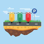 Motorcycle Parking illustration