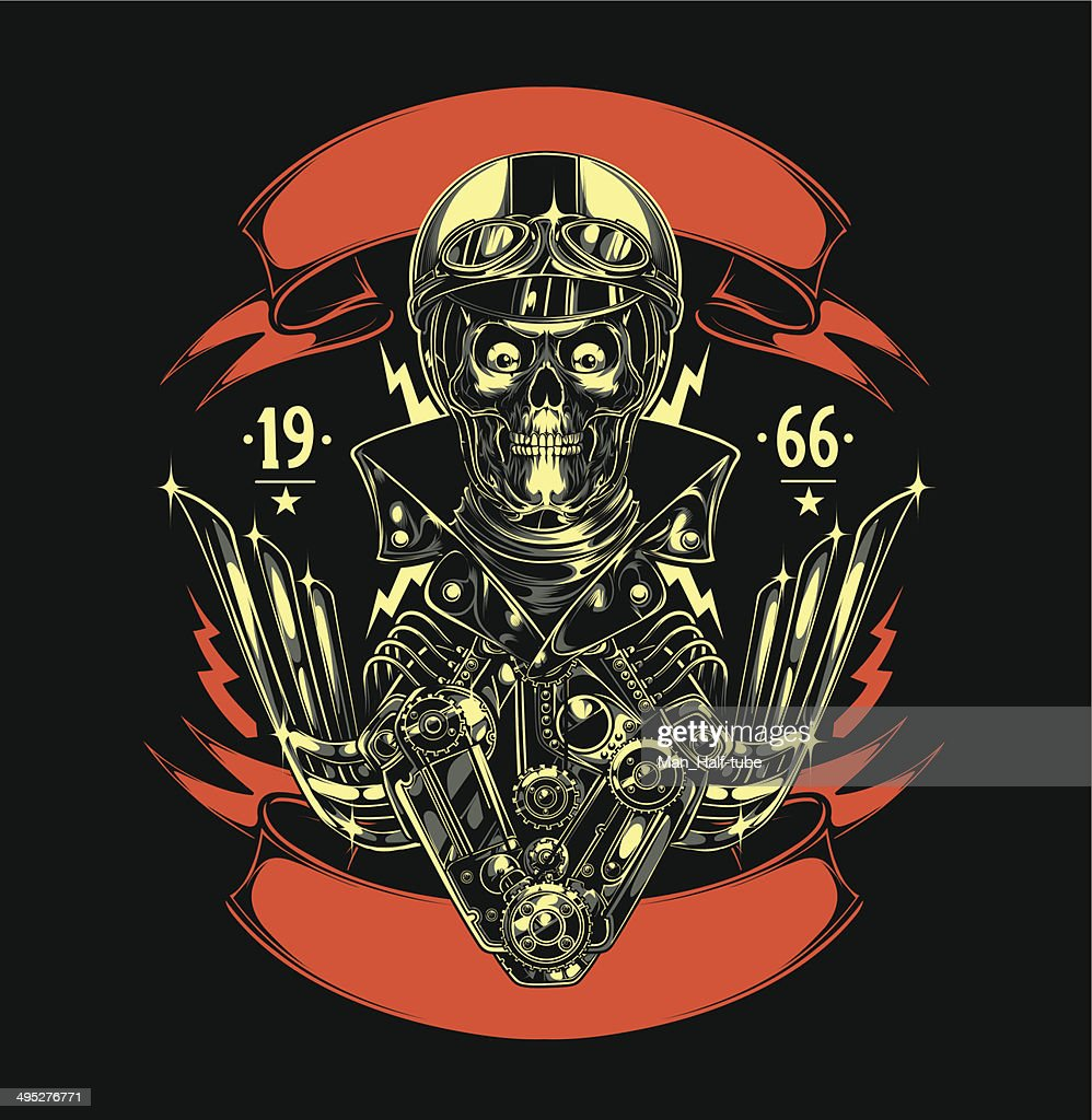 Motorcycle Patch : stock illustration