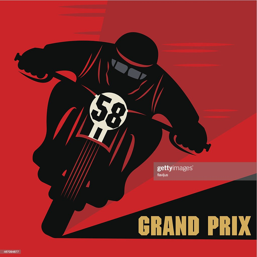 Motorcycle race label
