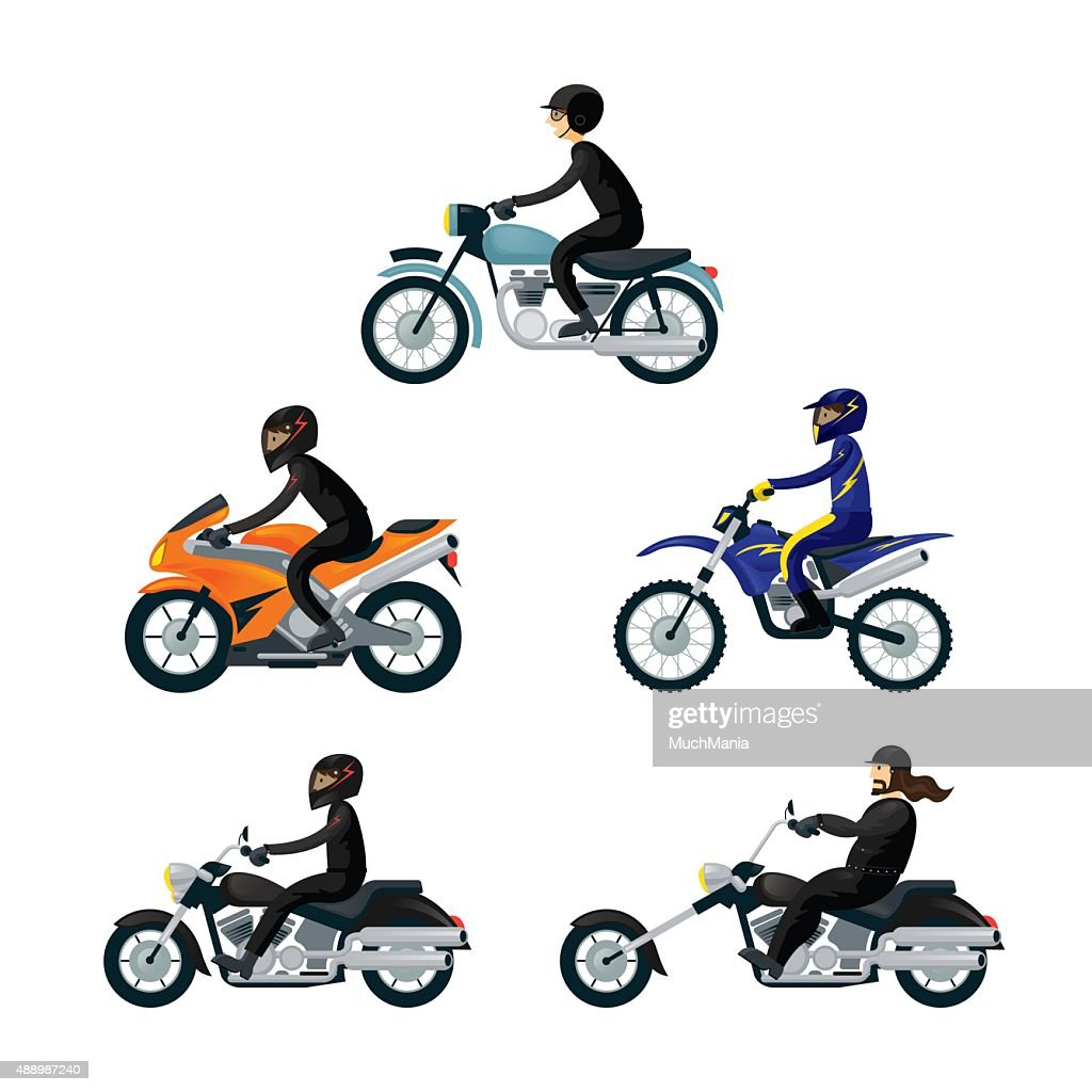 Motorcycle Riders, Bikers,