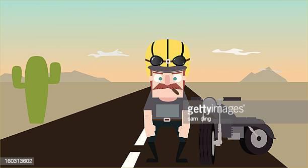 illustrations, cliparts, dessins animés et icônes de les motocyclistes - casque de moto
