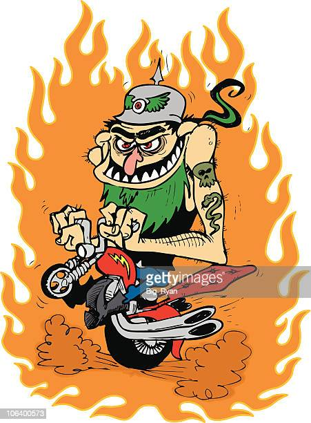 motorcylce fink - motorcycle rider stock illustrations, clip art, cartoons, & icons