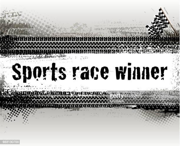 motorsport banner - go carting stock illustrations, clip art, cartoons, & icons