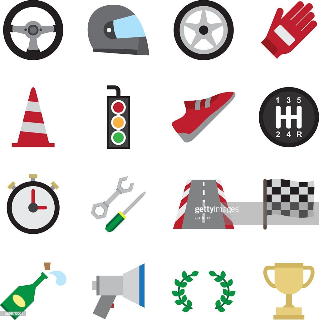 Motorsport color icon