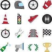 Motorsport color icon