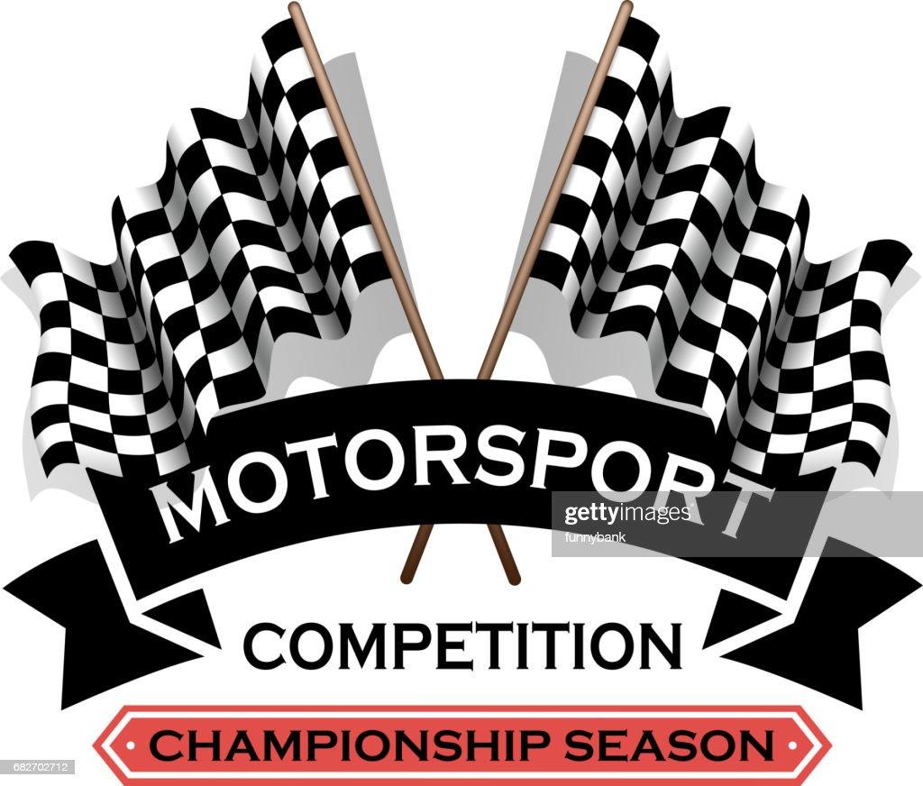 motorsport label : stock illustration