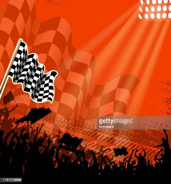motorsport placard - checkered flag stock illustrations