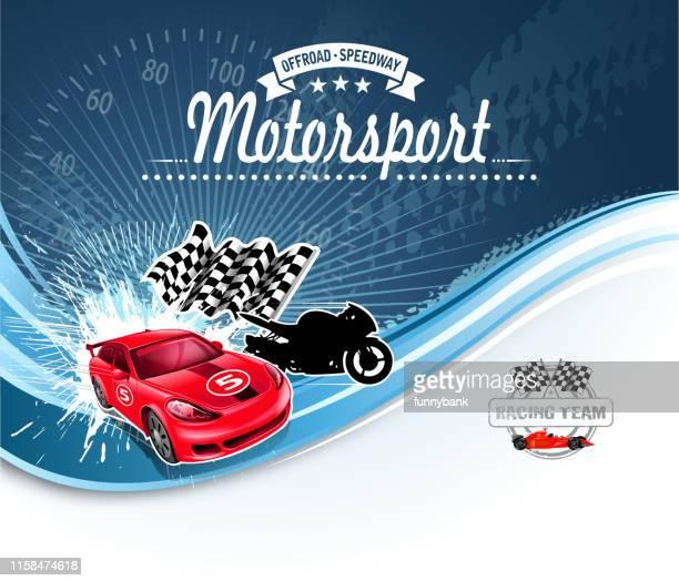 motorsport sign - go carting stock illustrations, clip art, cartoons, & icons