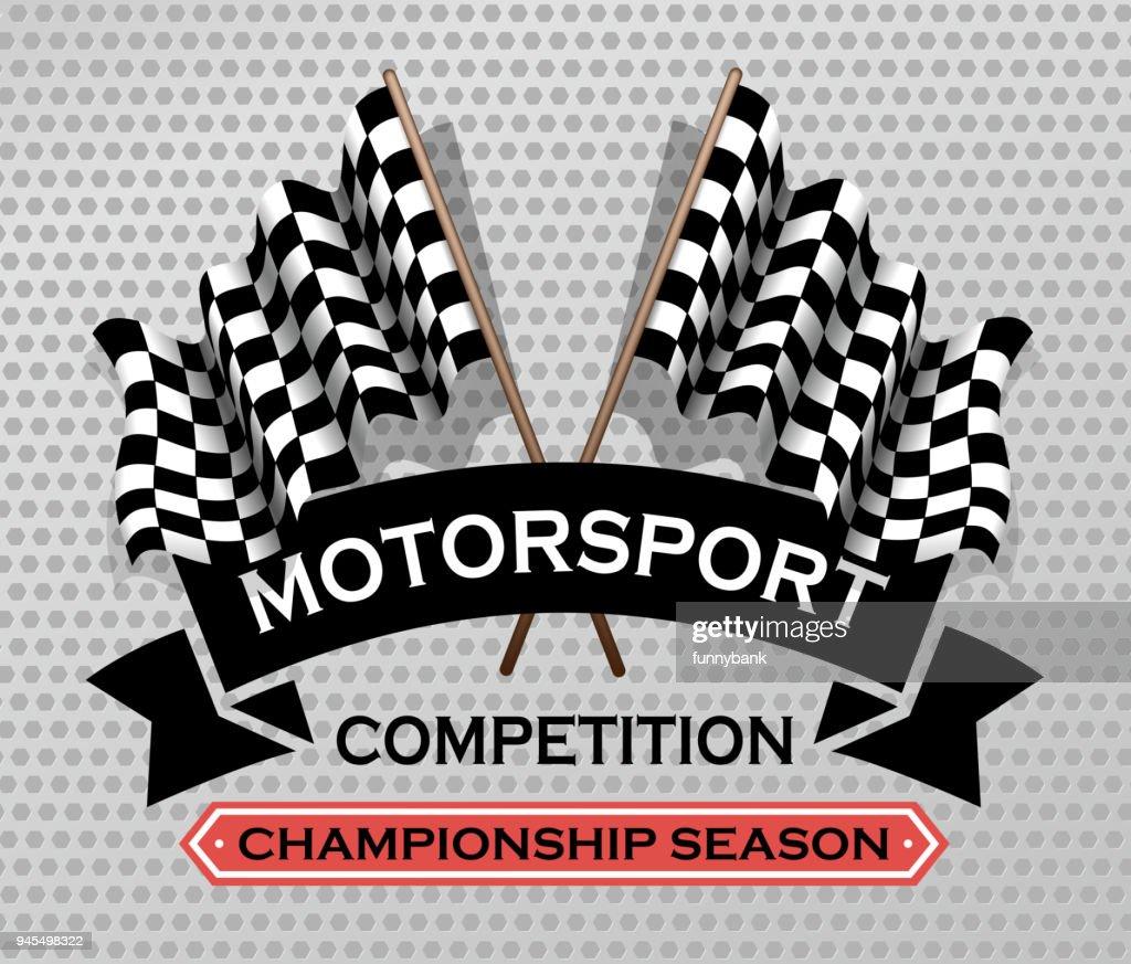 motorsport sign : stock illustration
