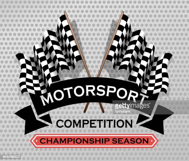 motorsport sign - race car stock illustrations, clip art, cartoons, & icons