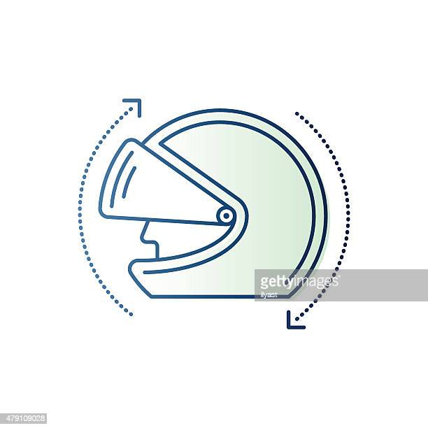 motorsports helmet - motorcycle helmet isolated stock illustrations, clip art, cartoons, & icons