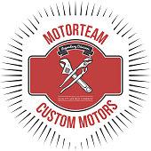 Motorteam Custom motors T-shirt graphic Vector