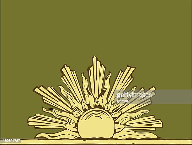moulded sun - bas relief stock illustrations