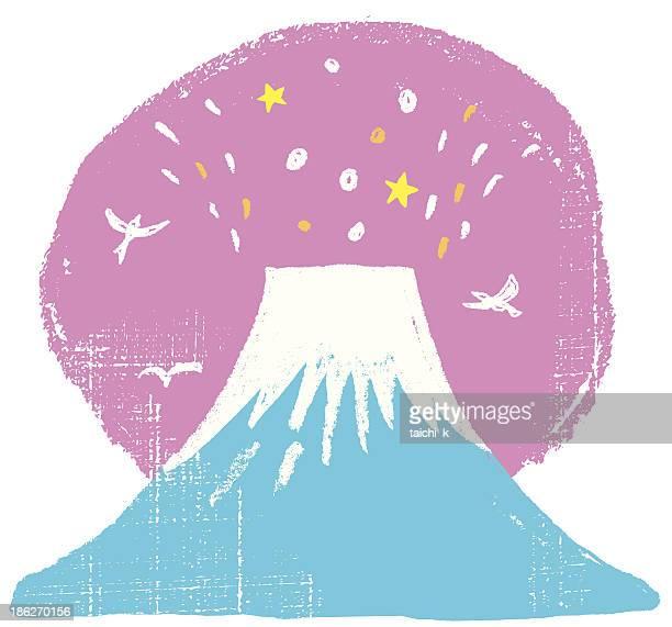 ilustraciones, imágenes clip art, dibujos animados e iconos de stock de monte fuji de japón - mt. fuji