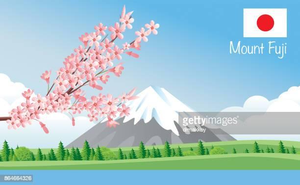 ilustrações, clipart, desenhos animados e ícones de monte fuji - mt. fuji