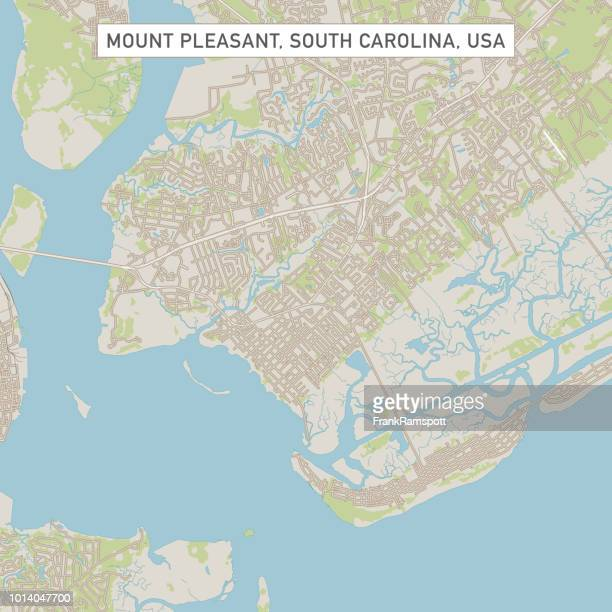 Mount Pleasant, South Carolina USA Stadtstraße Karte