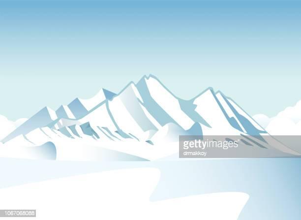 山と冬 - アラスカ点のイラスト素材/クリップアート素材/マンガ素材/アイコン素材