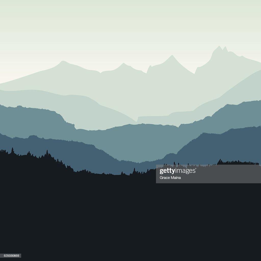 Mountain backdrop - VECTOR