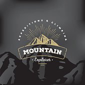 Mountain badge Black