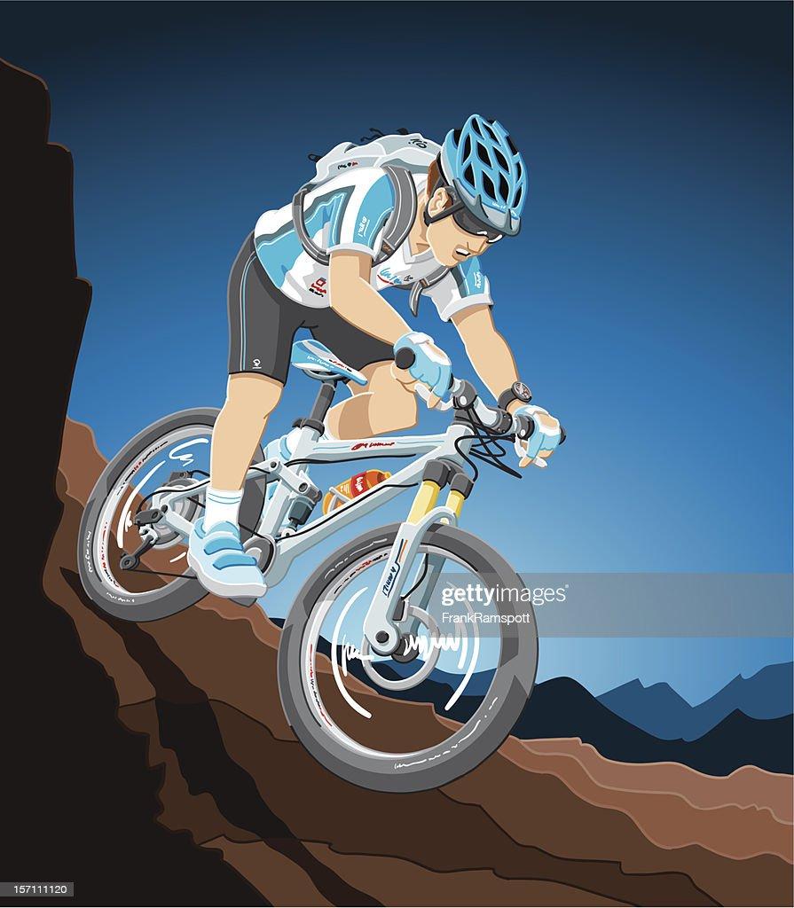 Mountainbike-Aktion : Stock-Illustration