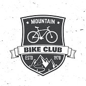Mountain bike club. Vector illustration