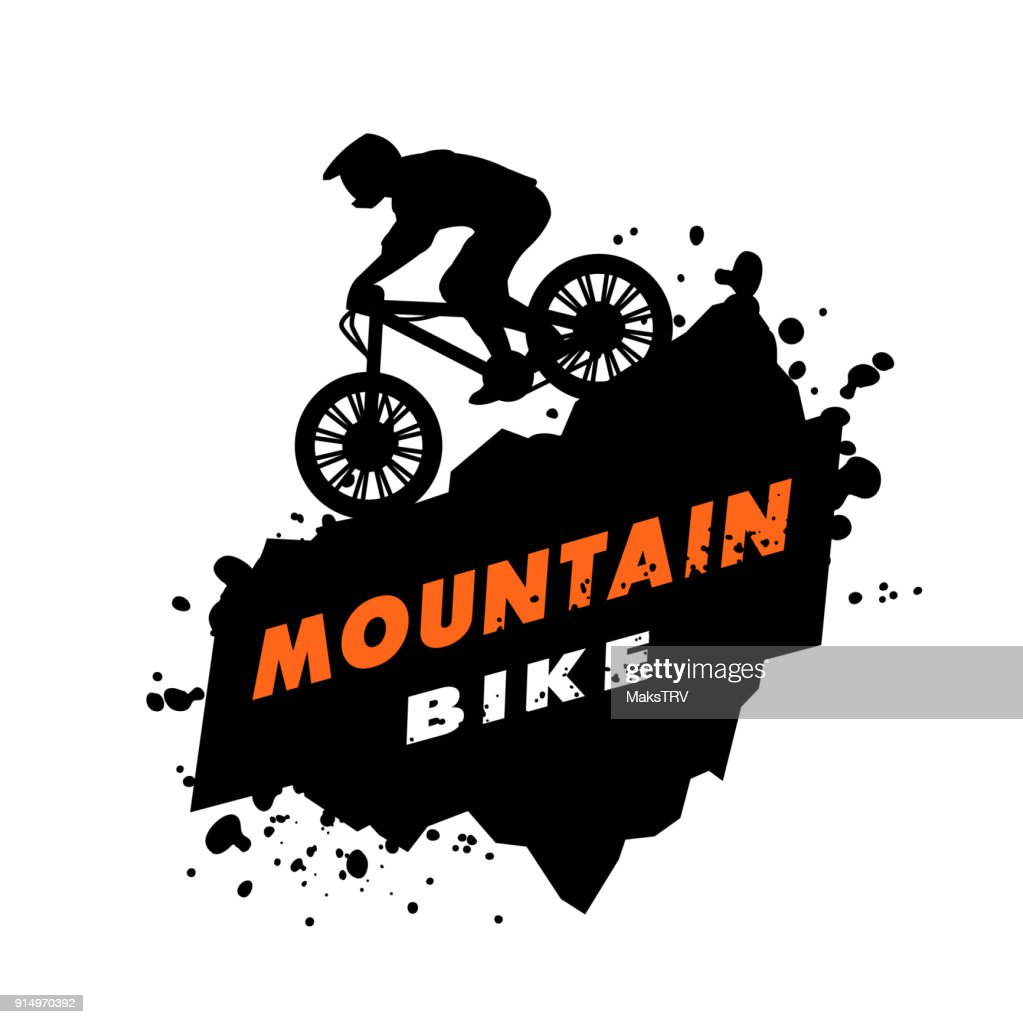 Mountain bike trials emblem.