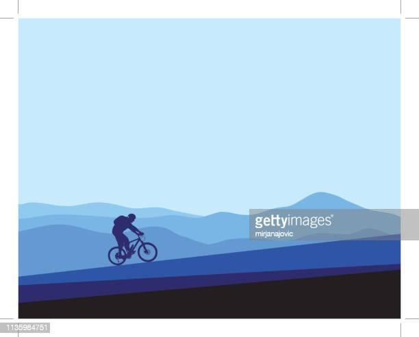 ilustraciones, imágenes clip art, dibujos animados e iconos de stock de bicicleta de montaña - mountain bike