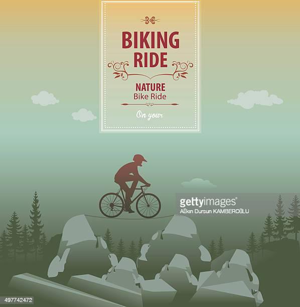 stockillustraties, clipart, cartoons en iconen met mountain bike - match sport