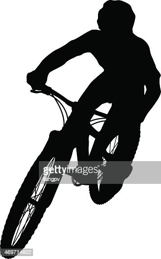 mountain biker vector art getty images