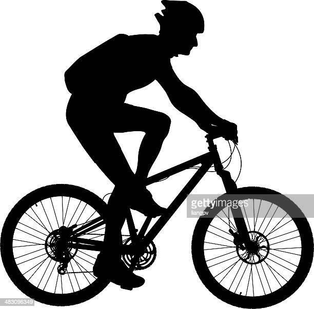 ilustraciones, imágenes clip art, dibujos animados e iconos de stock de ciclismo de montaña - mountainbike