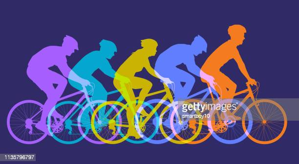 mountain bikes - bike helmet stock illustrations, clip art, cartoons, & icons