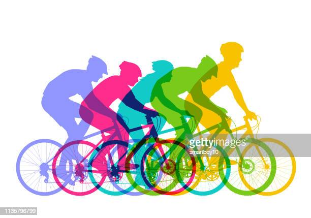 ilustraciones, imágenes clip art, dibujos animados e iconos de stock de bicicletas de montaña - mountain bike