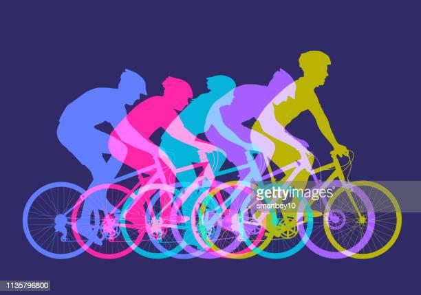 ilustrações, clipart, desenhos animados e ícones de bicicletas de montanha - ciclismo